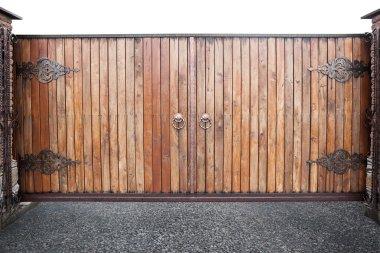 Wooden gates background