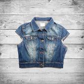 Photo Blue jeans jacket vest