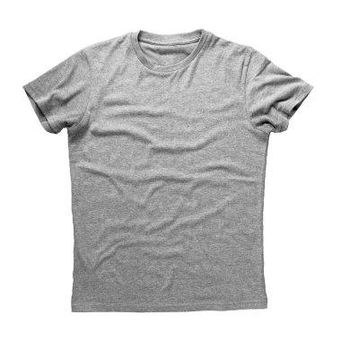 Grey shirt isolated on white