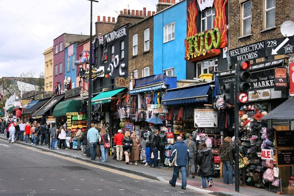 camden shopping london stock photo