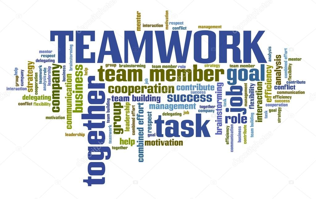 team work word cloud stock photo tupungato 114842468