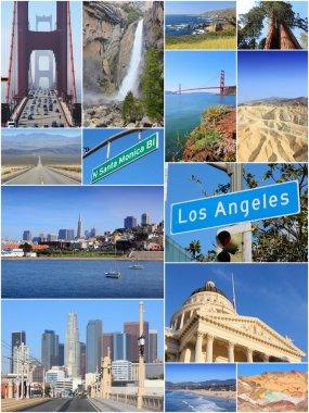 California USA - travel collage