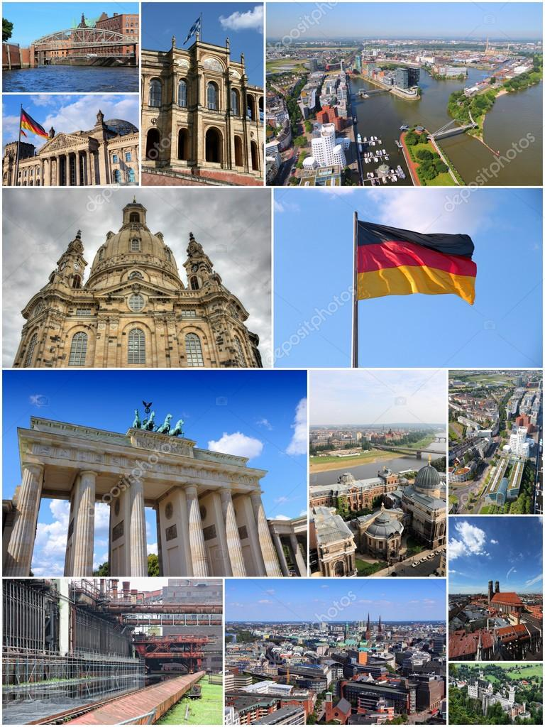 Germany Photos Travel Collage Stock Photo C Tupungato 120353008