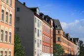 Chemnitz. Wohnarchitektur in Ostdeutschland. Mehrfamilienhäuser im Stadtteil Kassberg.