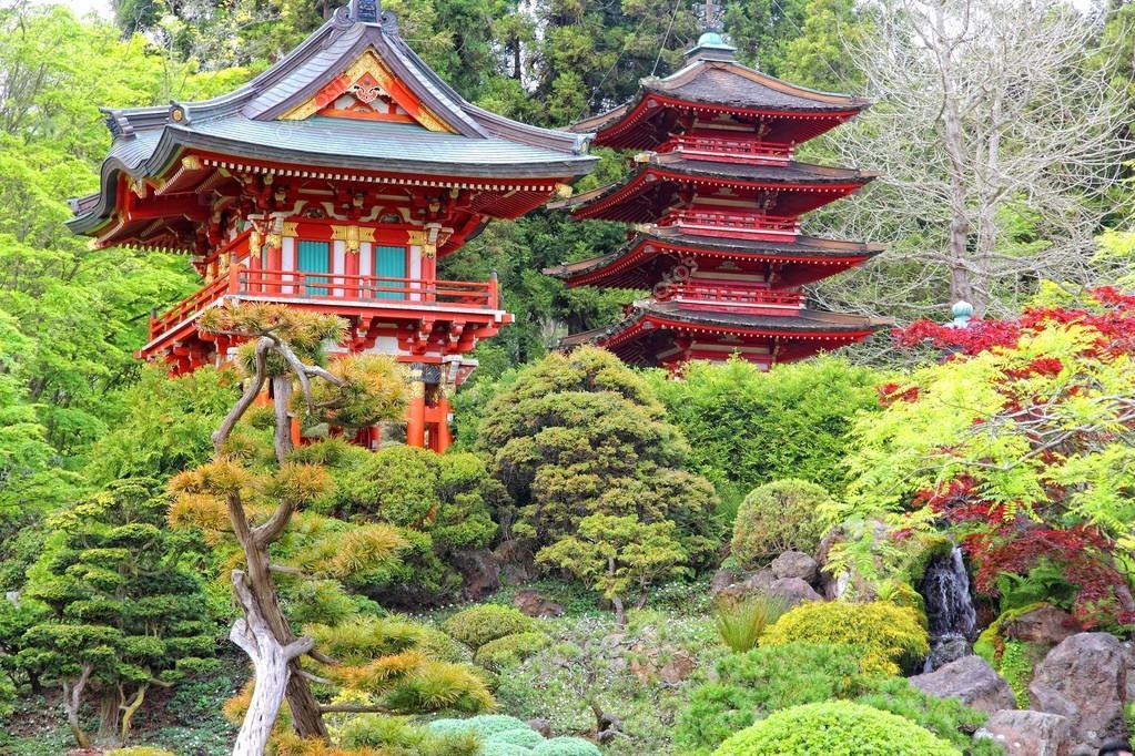 Giardino giapponese, san francisco\u2013 immagine stock