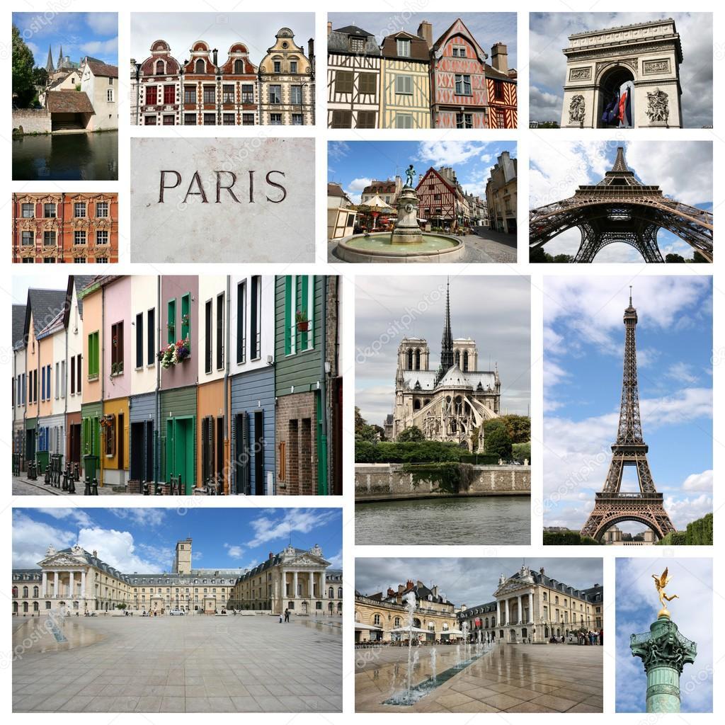 collage de Francia — Foto de stock © tupungato #76009777