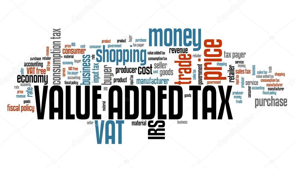 Vat Value Added Tax Word Cloud Stock Photo Tupungato