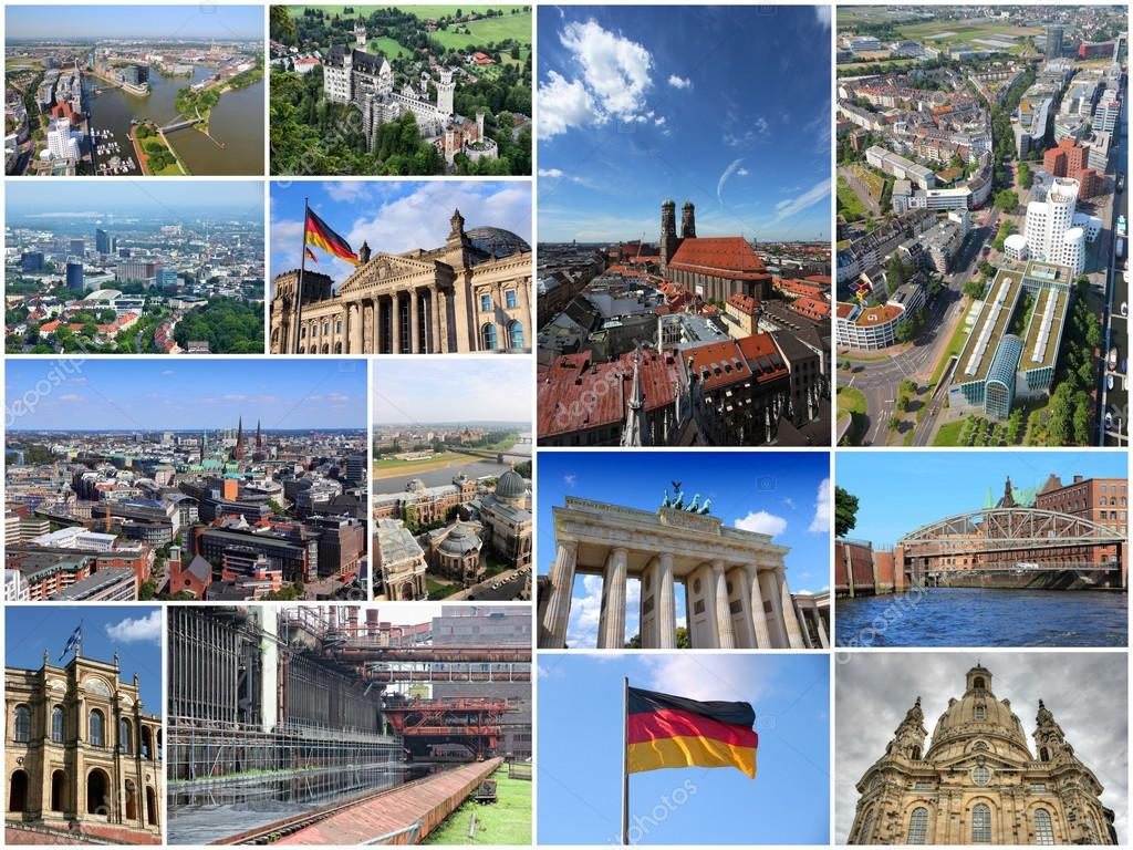 Germany Collage Travel Photos Stock Photo C Tupungato 92977804