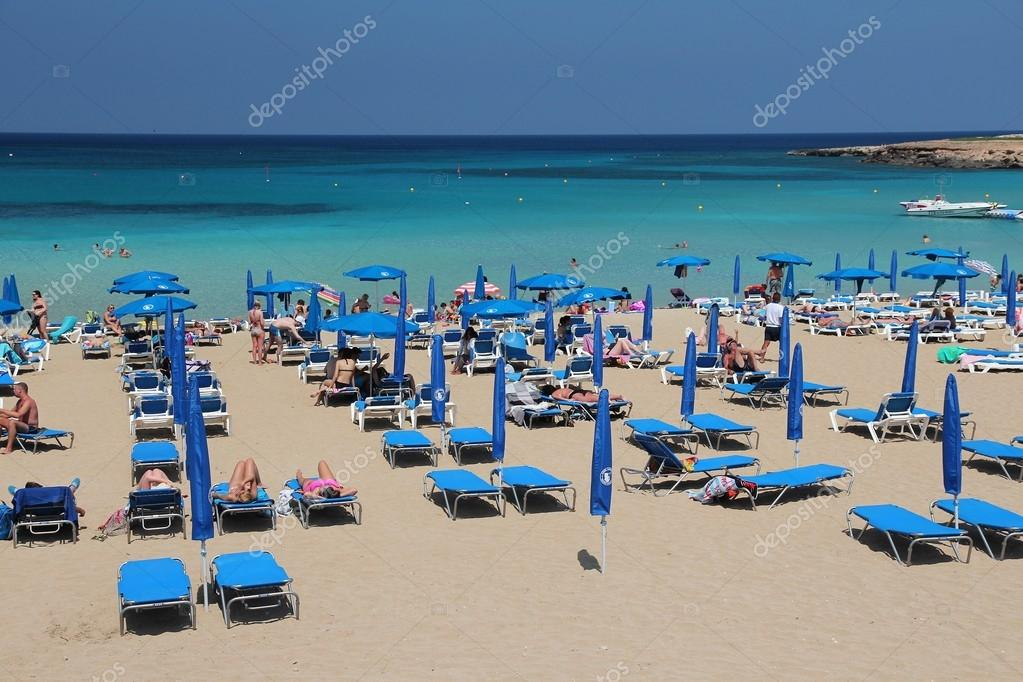 Cyprus tourists beach