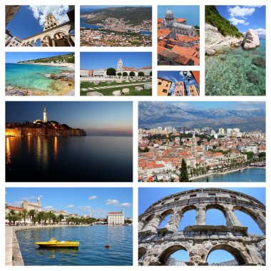 Travel Croatia - photo collage