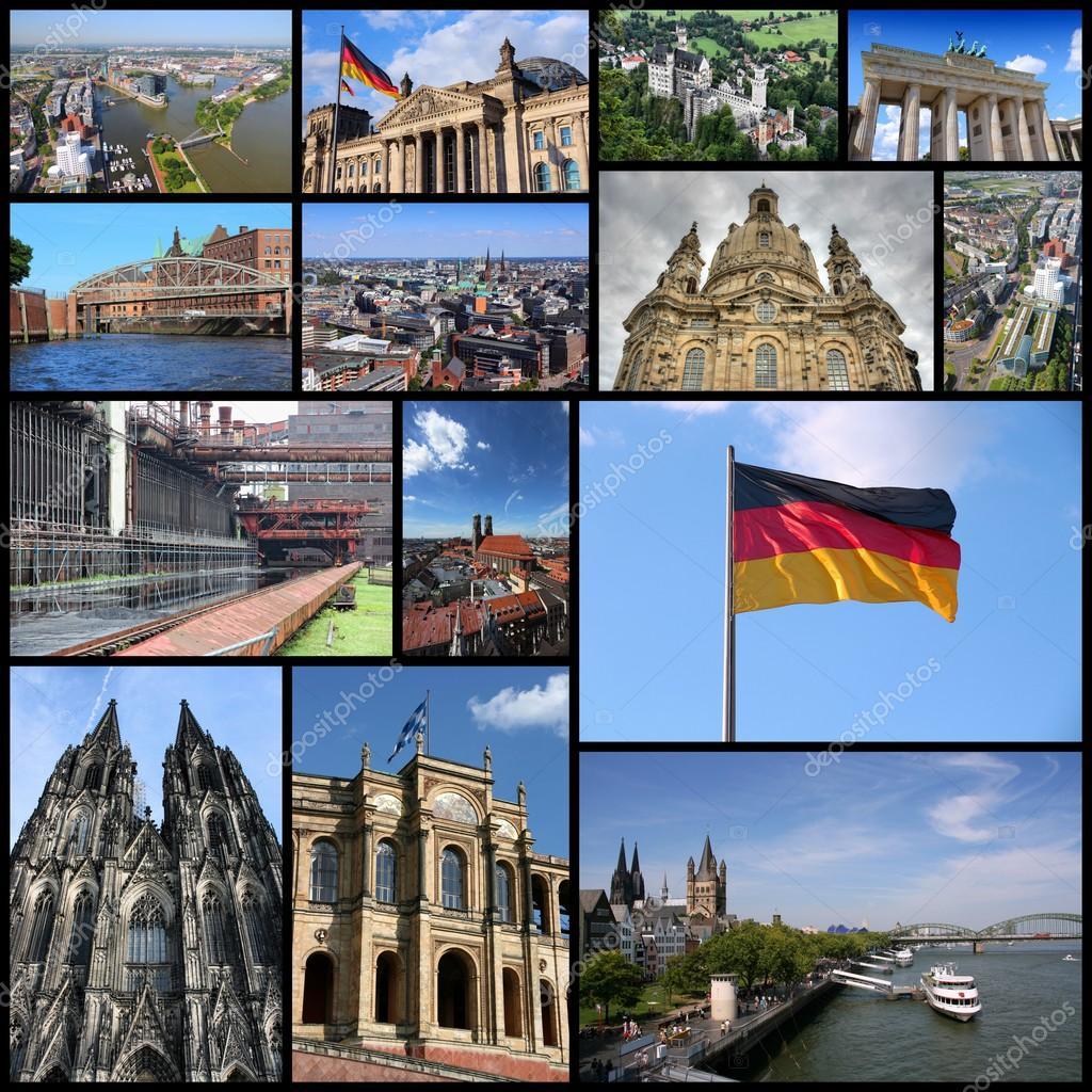 Collage de viaje de Alemania — Foto de stock © tupungato #99522184