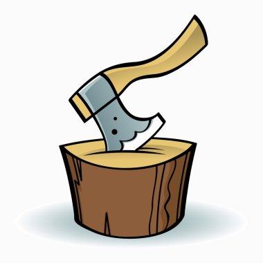 Axe on chopping block