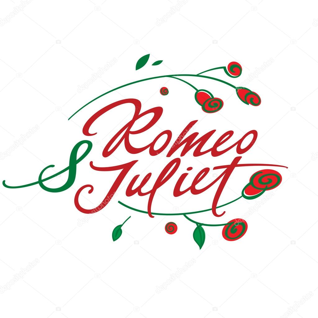 inscrição de romeu e julieta vetores de stock ofchina 75156461