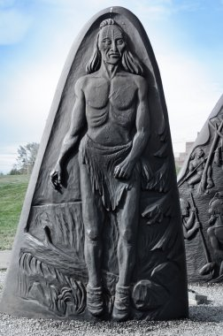 historic cast iron sculpture of Gaspe