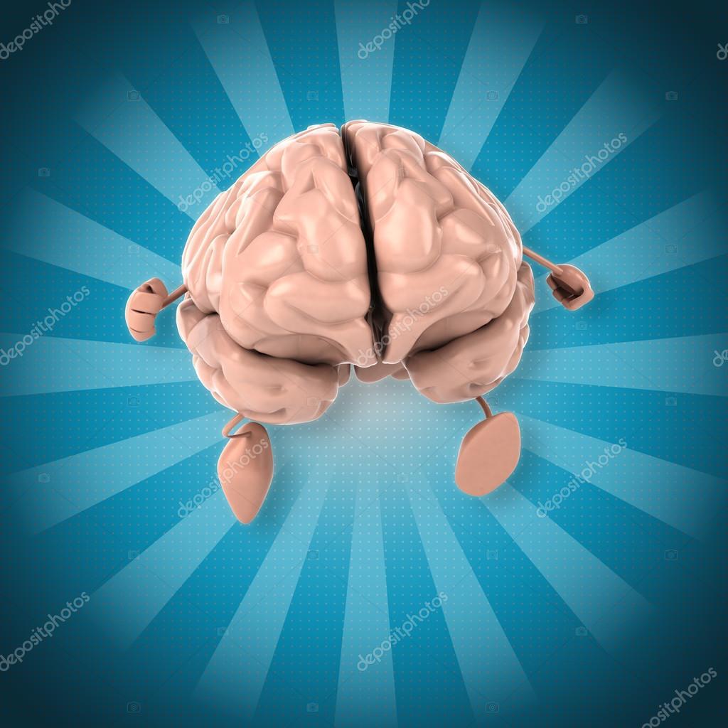 Cerebro de divertidos dibujos animados — Foto de stock © julos ...