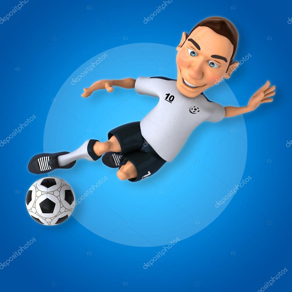 Giocatore di calcio cartone animato u foto stock julos