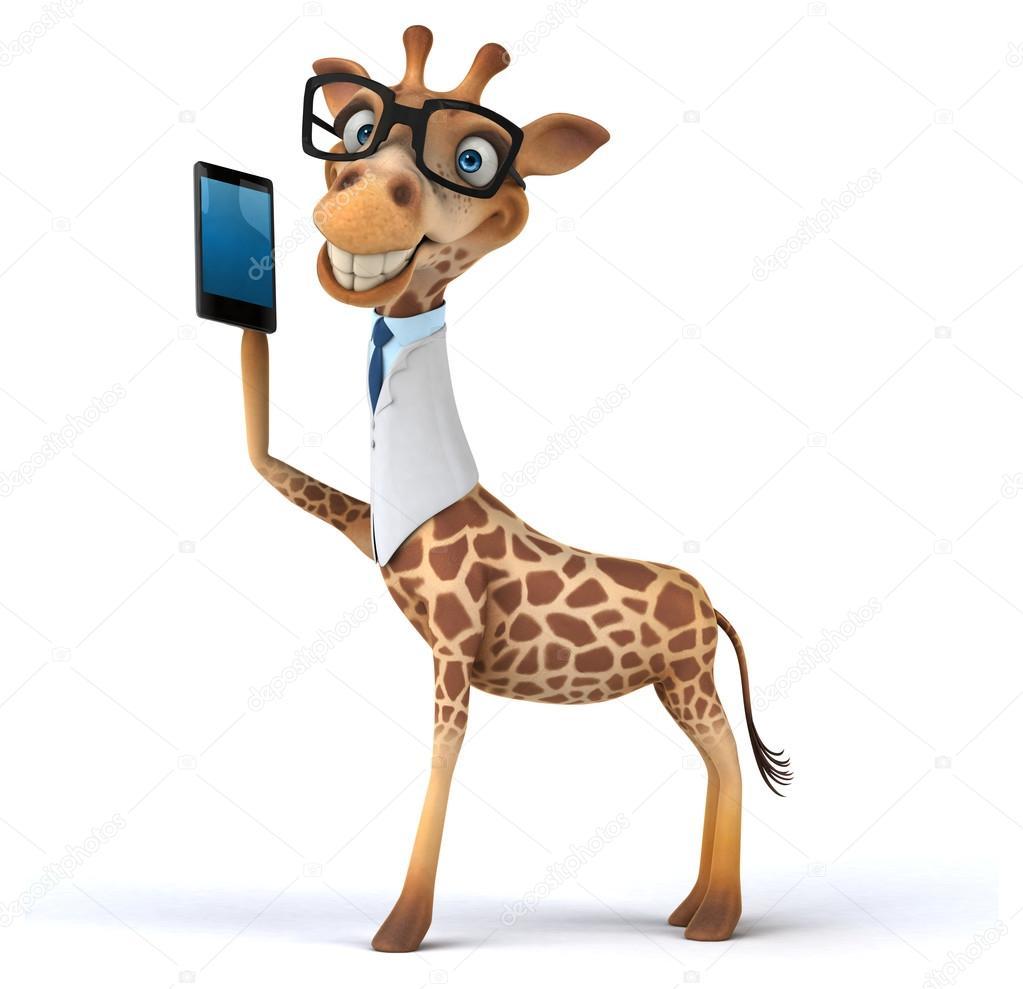 Divertente cartone animato giraffa foto stock julos - Cartone animato giraffe immagini ...