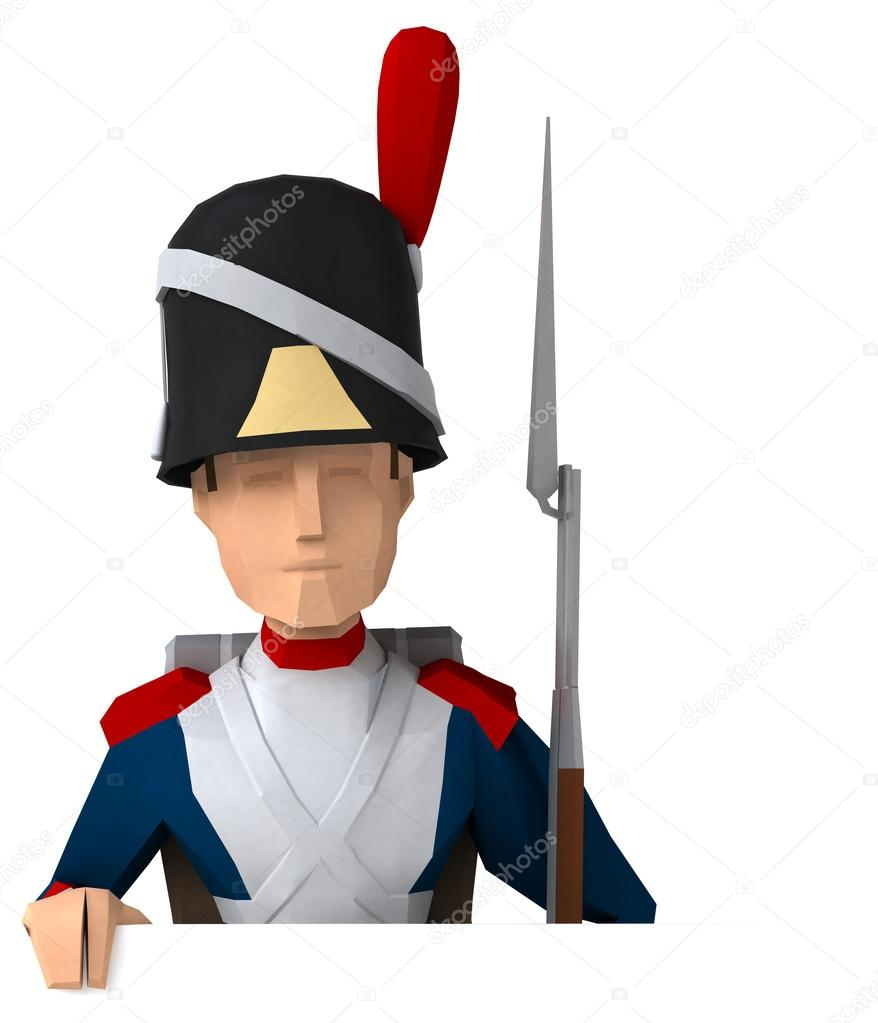 polygonal Napoleonic grenadier — Stock Photo © julos #102807260