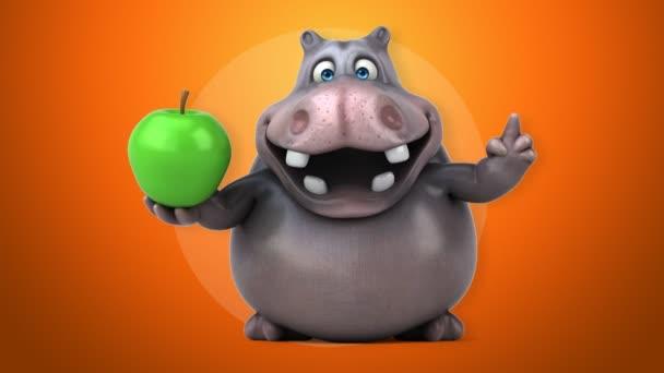 Ippopotamo cartone animato divertente u2014 video stock © julos #108306880