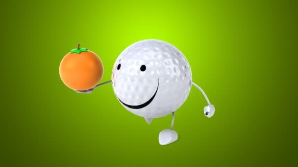 Funny Cartoon Golf Ball Stock Video C Julos 111522672