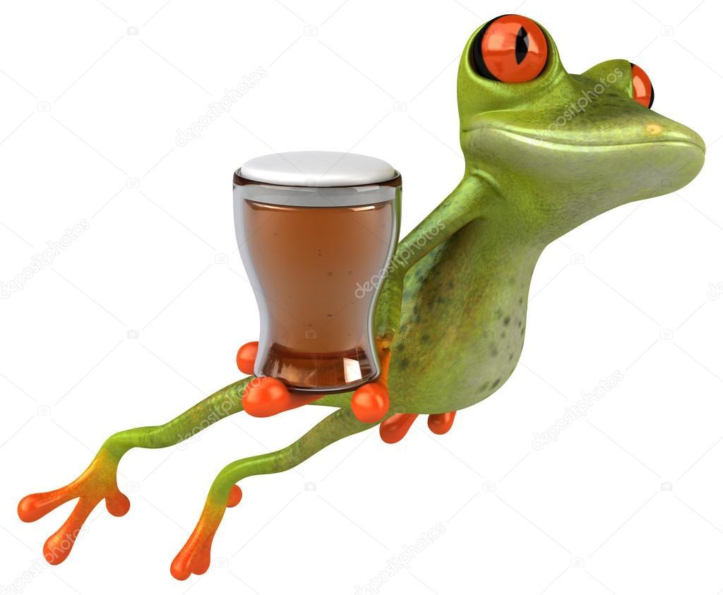 маккартни картинки лягушка пьет коктейль зимы