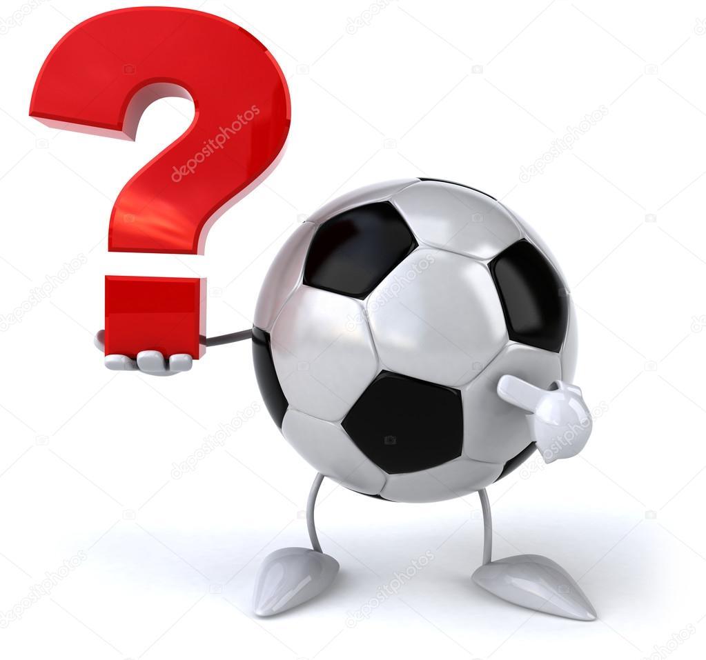 Resultado de imagem para Bola de futebol com interrogações