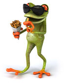 Fun frog with french fries