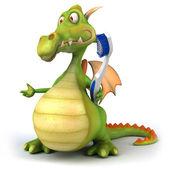 Zábava drak s zubní kartáček
