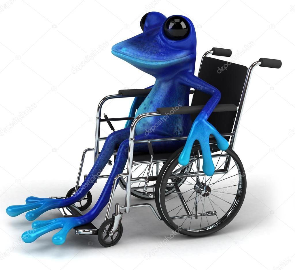 grenouille bleue en fauteuil roulant image de julos - Fauteuil Grenouille