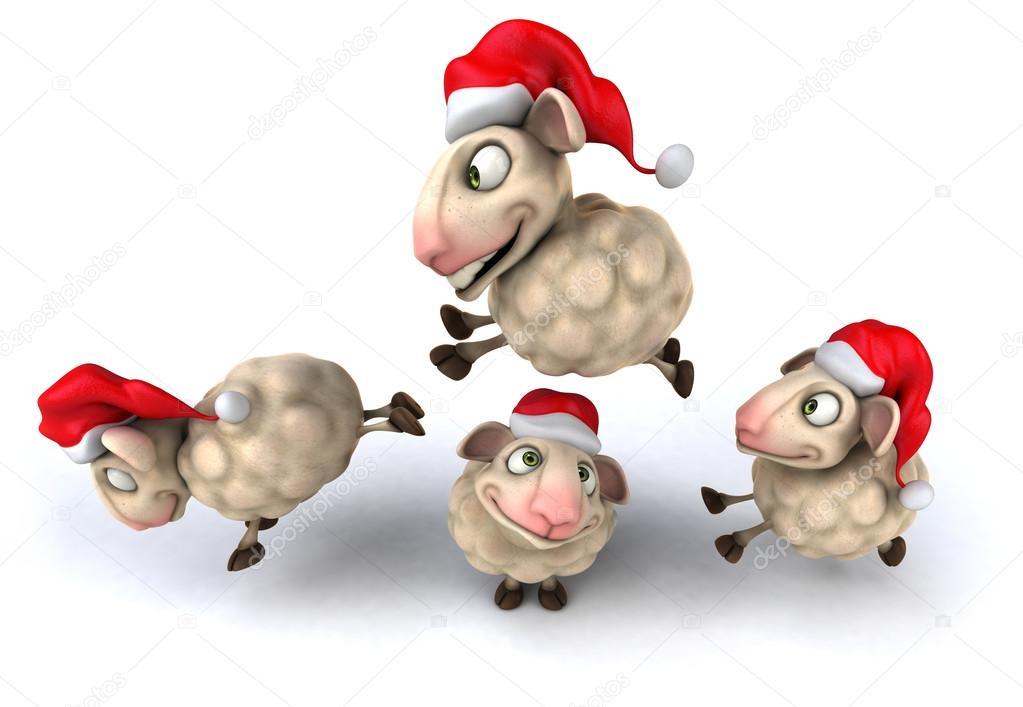 Weihnachten Schafe springen — Stockfoto © julos #54965267