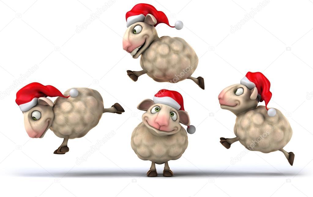 Weihnachten Schafe springen — Stockfoto © julos #54965273