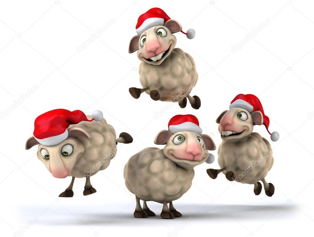 Weihnachten-Schafe — Stockfoto © julos #55153361