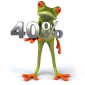 Frog with 40 percents