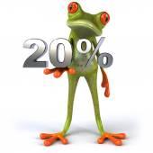 Žába s 20 procent