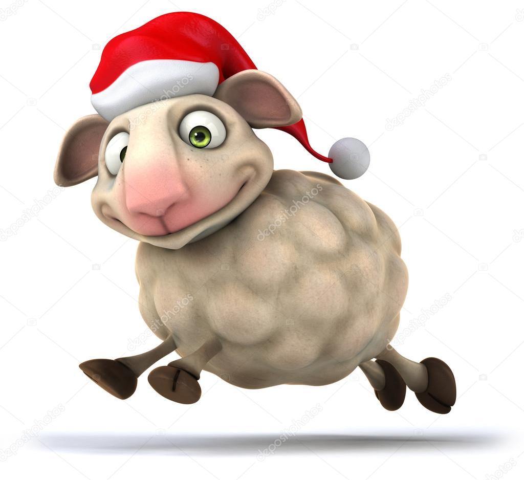 Weihnachten-Schafe — Stockfoto © julos #55757039