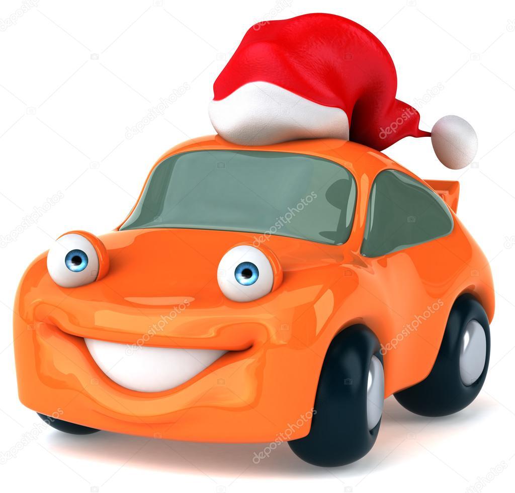 425fb43321f9a Fun car in Santa hat — Stock Photo © julos  57070443