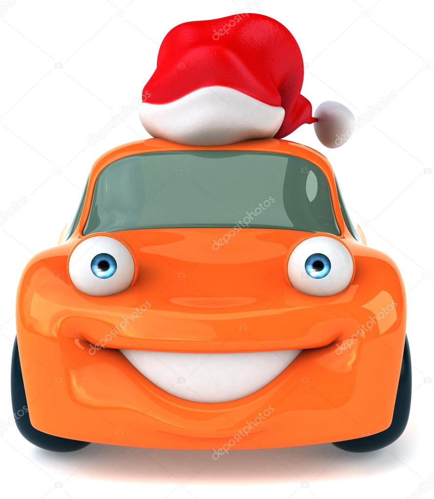 a9a690caa8c34 Fun car in Santa hat — Stock Photo © julos  57070491