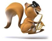 Zábavné veverka saxofon