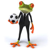 Frog playing football