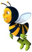 Zábavné kreslené včela