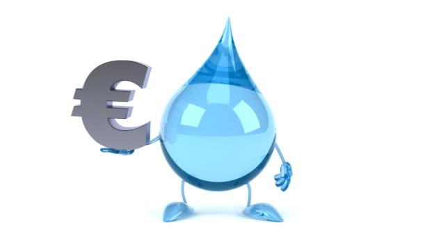 Cartoon Drop With Euro Sign Stock Video C Julos 69906235