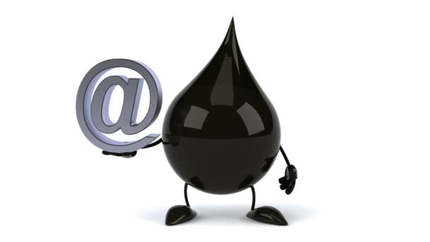 Black Oil Drop With Email Symbol Stock Video Julos 69906321