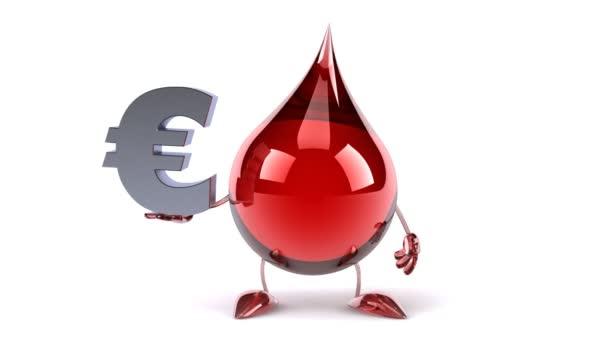 Cartoon Blood Drop And Euro Sign Stock Video C Julos 69906719