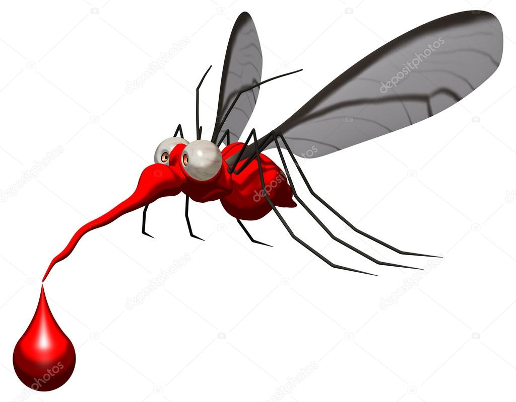 Divertente cartone animato zanzara u foto stock julos