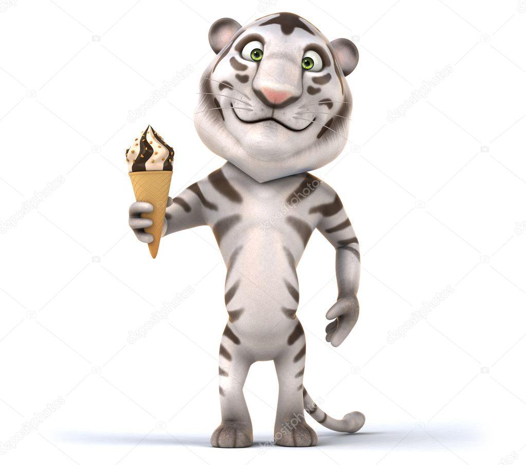 Tigre cartone animato divertente u2014 foto stock © julos #72254249