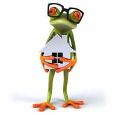 Zábavné kreslené žába
