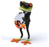 Fun cartoon frog
