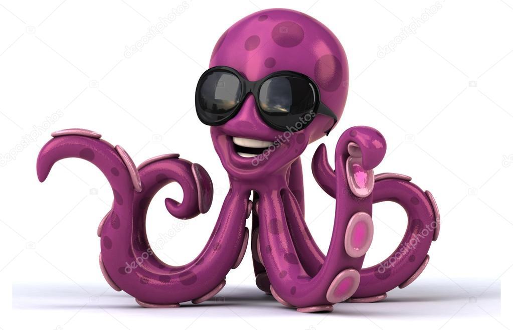 картинка с курящим осьминогом используются небольших