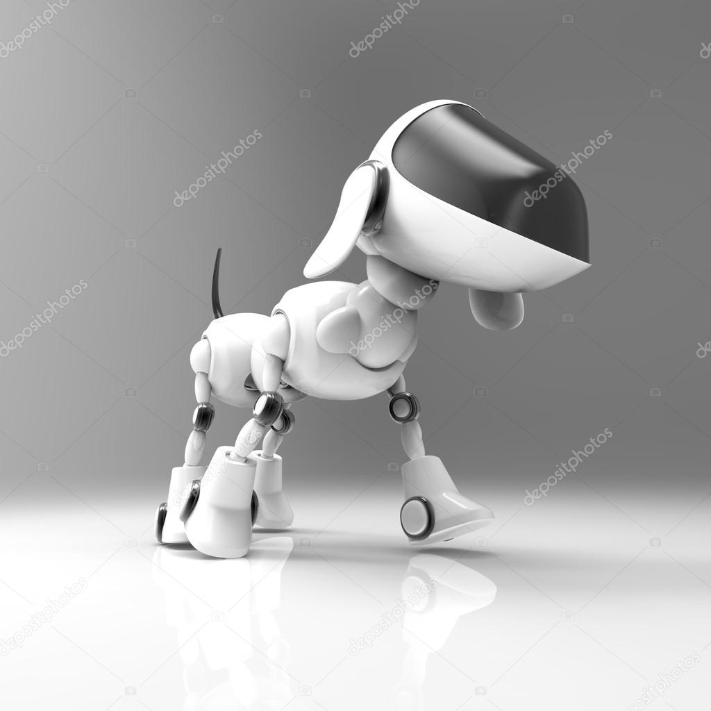 Robot cane del fumetto u foto stock julos
