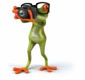 Zábava žába s fotoaparátem